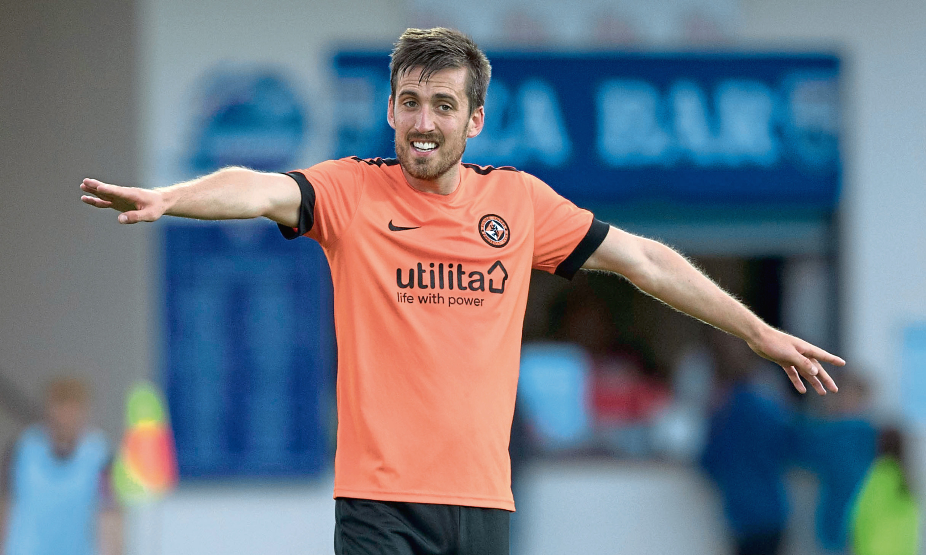 Callum Booth in action for Dundee United
