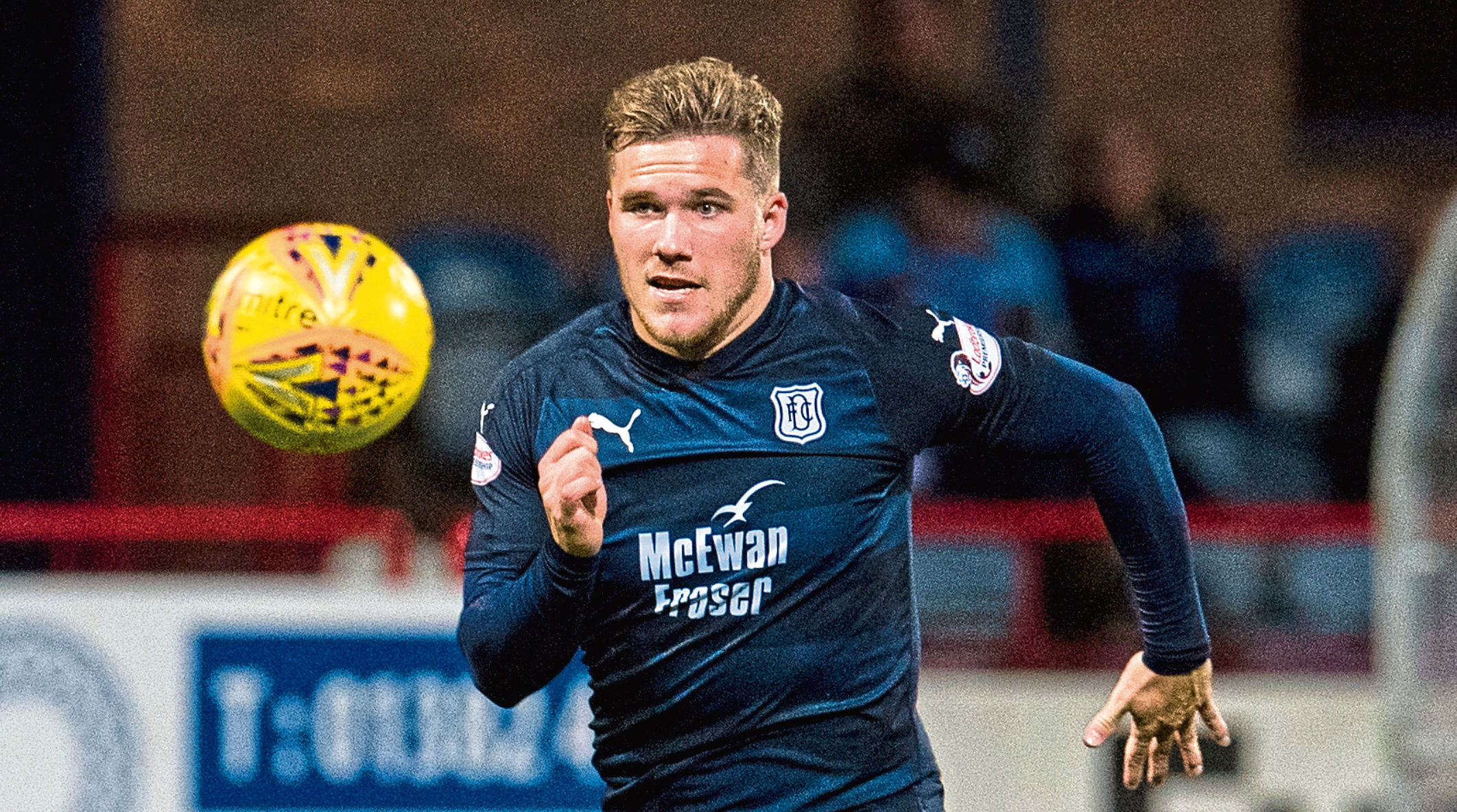 Benjamin Kallman in action for Dundee
