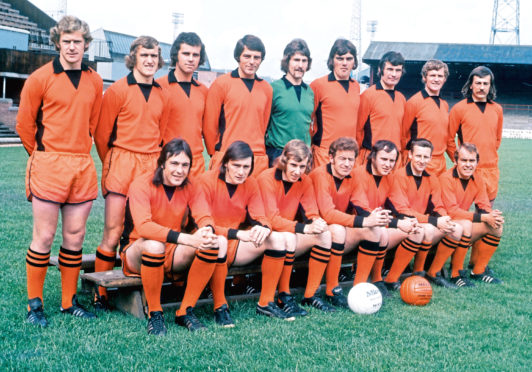 Dundee United won the league in 1983 but John Holt reckons many of the                      players who featured in the decade before helped pave the way to title success. Above is the United squad from 1973-74. Back (from left) – Duncan McLeod, Jim Cameron, Frank Kopel,                          Walter Smith, Hamish McAlpine, Jackie Copland, Archie Knox, Pat Gardner, George Fleming. Front – Jim Henry, Andy Rolland, Sandy Whyte, Doug Smith, Ian Mitchell, Tommy Traynor,                           Kenny Cameron