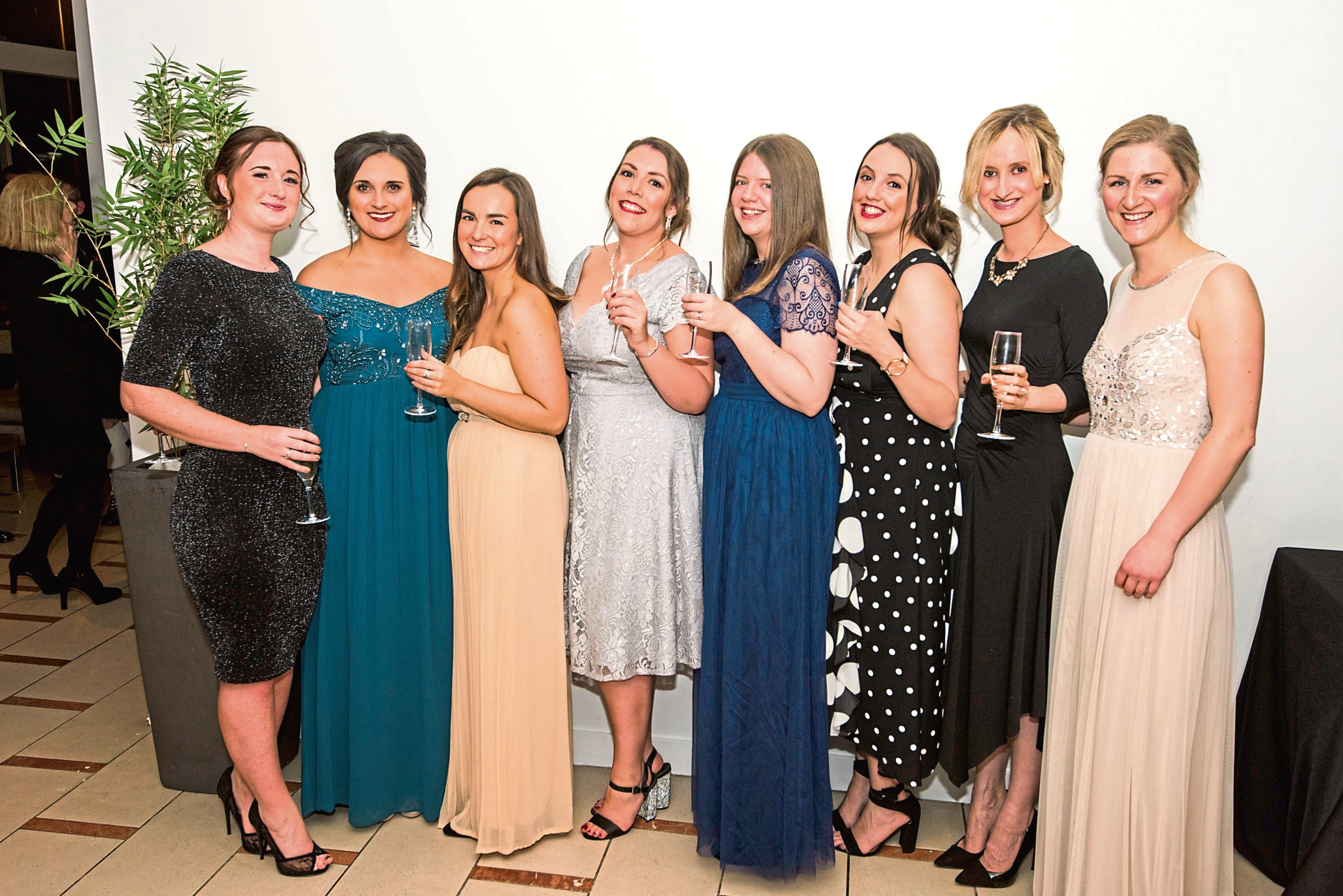 The Dundee staff (from left): Rachel Bell, Sandi Drummond, Rachel Matthew, Michelle Murray, Katherine Thomson, Lauren Malloch, Paula McAllister and Susan Beattie
