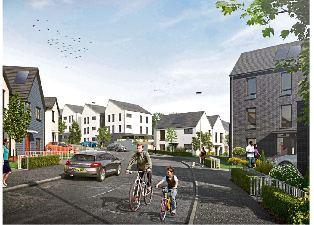 An artist's impression of the new development in Mill o' Mains