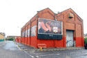 The storage facility opposite Tannadice which is set to hold the new sports bar