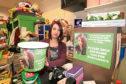Zoe Sievwright in the Barnardo's Donation Centre where the thieves struck.