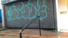 Some examples of the graffiti on buildings in the Hawkhill area.