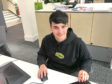 Pictured is Ryan Munro, a pupil who secured a work placement through the programme.