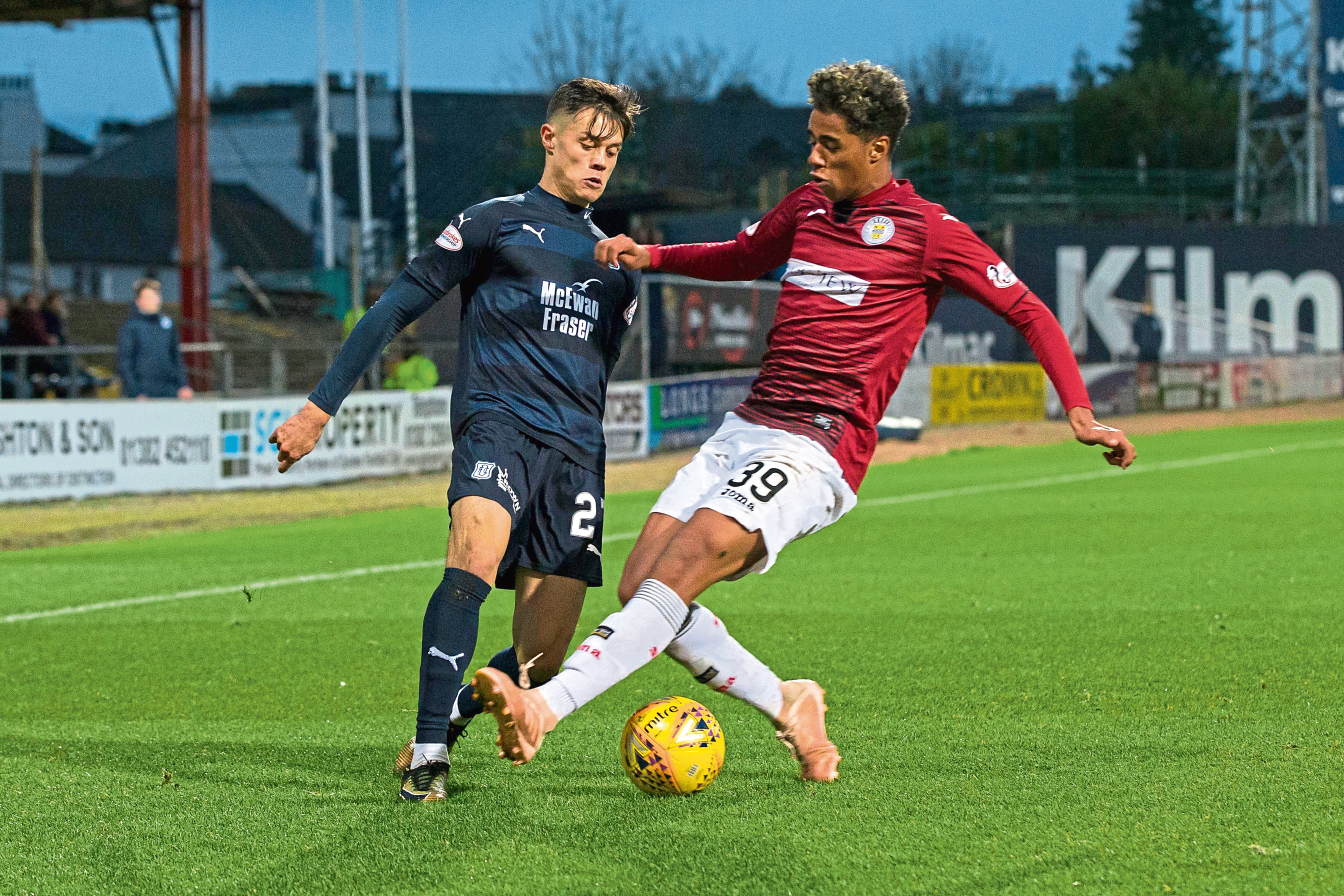 Dundee youngster Jesse Curran has featured 16 times for the Dark Blues this campaign and has impressed manager Jim McIntyre.
