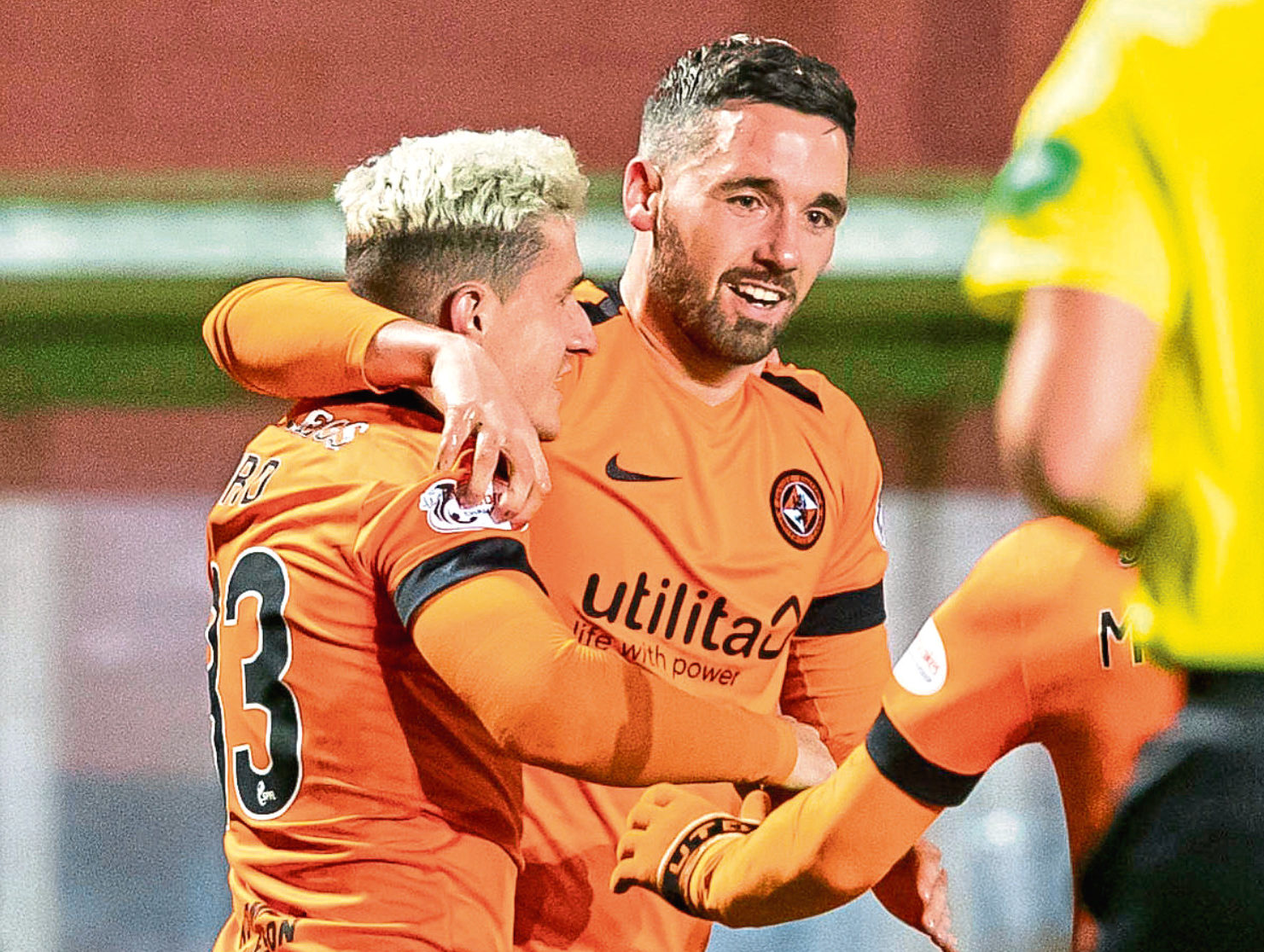 Nicky Clark (right) scored after starting against Alloa on Tuesday.