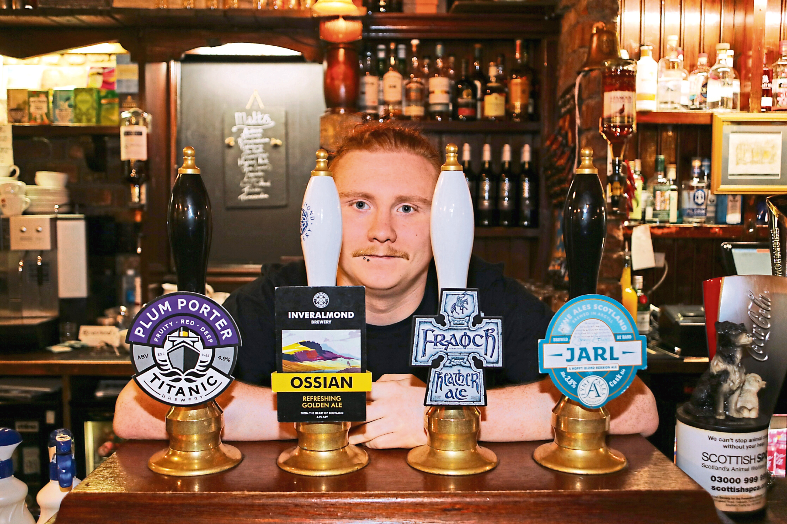 Ciaran Russell, of the Bank Bar, which sells a range of real ales
