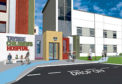 An artist's impression of how the entrance to the new hospital facility could look