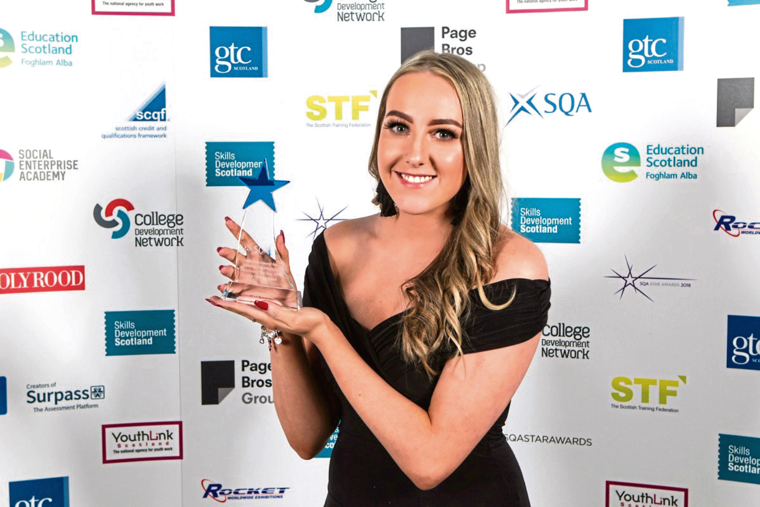 Lynsey Walker with her SQA award