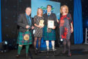 Pictured are, from left, Mr McIlwraith, Mary Colvin of Ninewells Community Garden, Findley Forrest from GreenPower and Ms Humble.