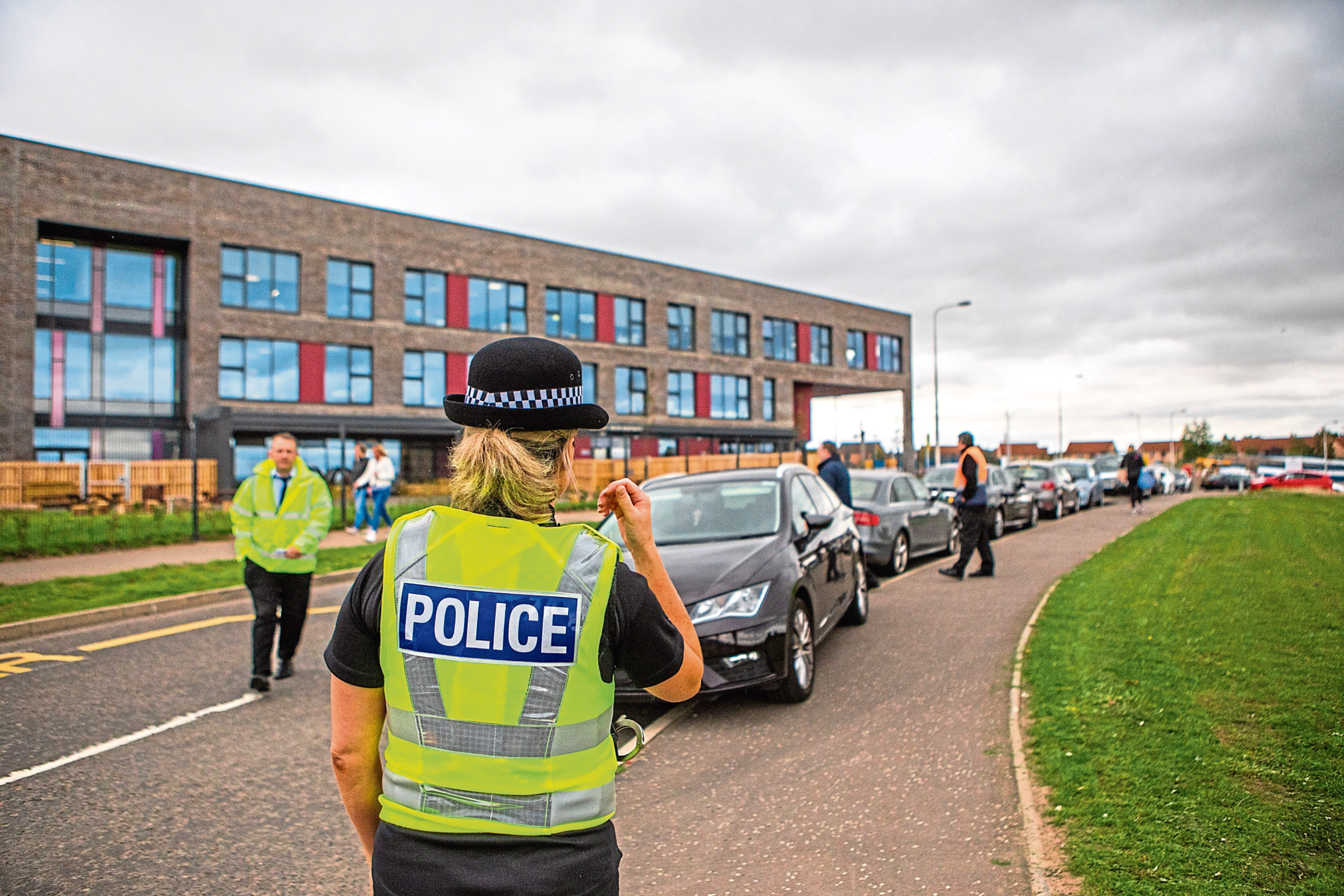 Police were called in to direct traffic when the campus opened in August.
