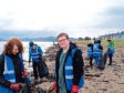Grove Academy pupils took part in the 'Big Beach Clean'