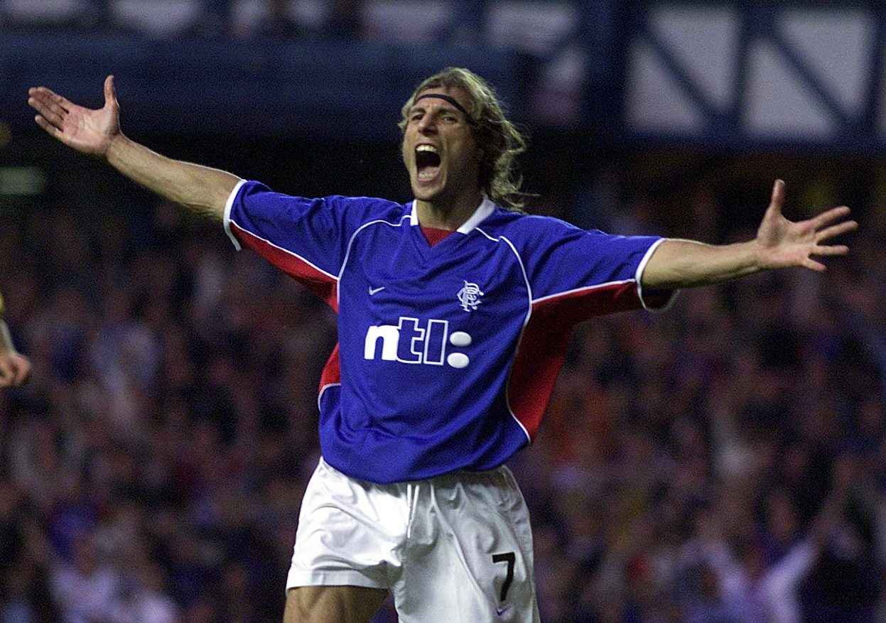 Caniggia had a trophy-laden spell at Ibrox from 2001 to 2003.