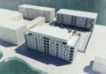 An artists' impression of the City Quay flats
