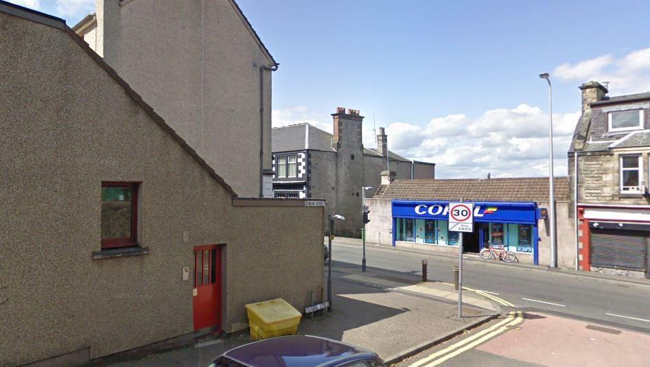 Dundas Street, looking towards Main Street, Lochgelly (stock image)