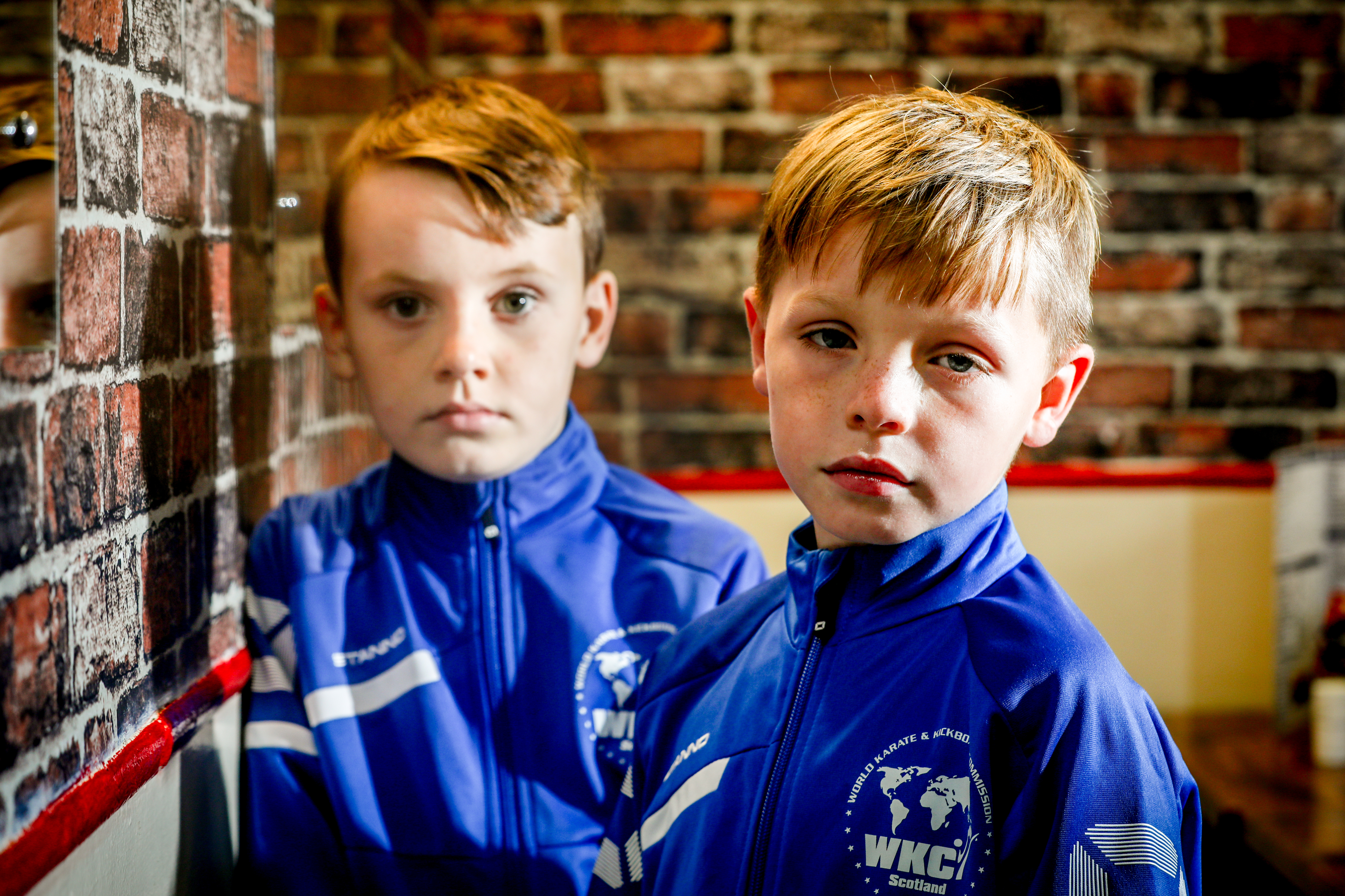 Young fighters Derren Currie and Riley Wanless