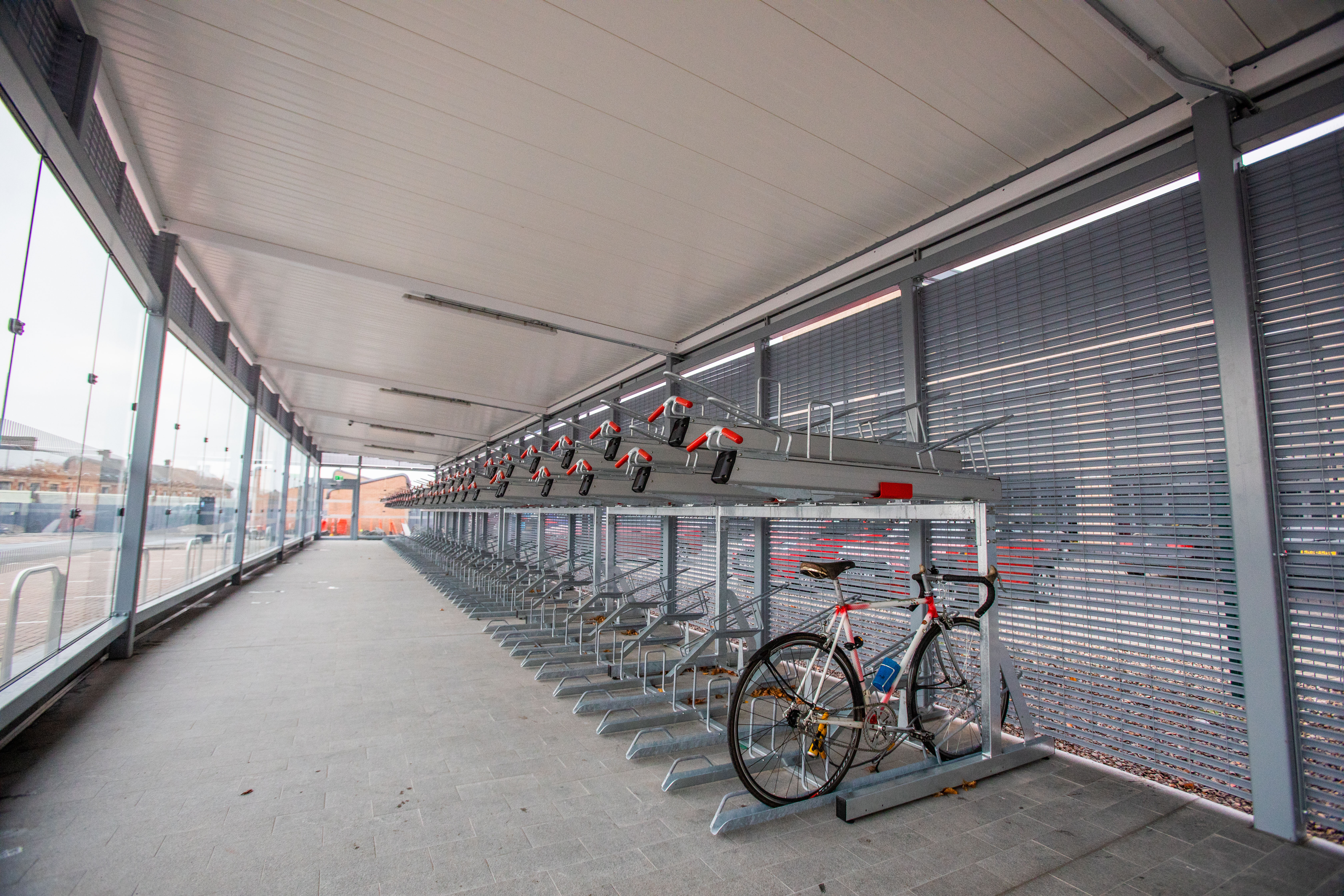 The new cycle parking facility at Dundee Railway Station