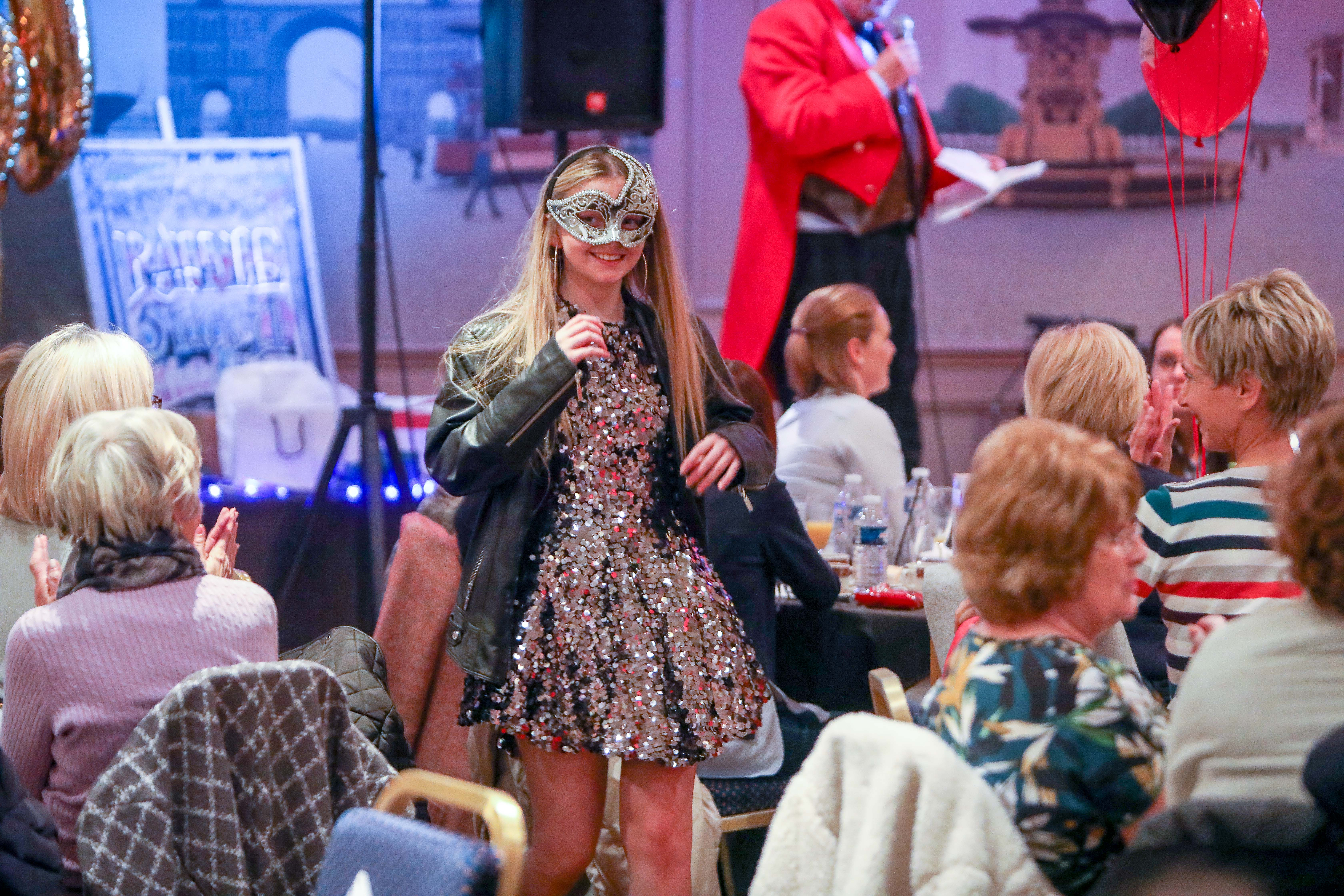 A model at the Shelter Scotland fashion show