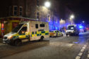 Emergency service vehicles on St Catherine's Square