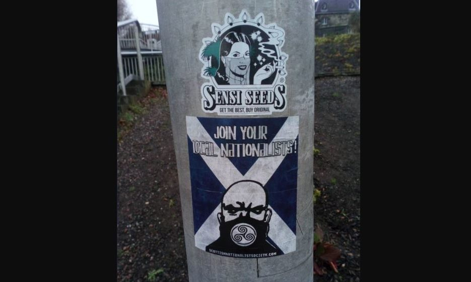 The sticker by the Seabraes bridge