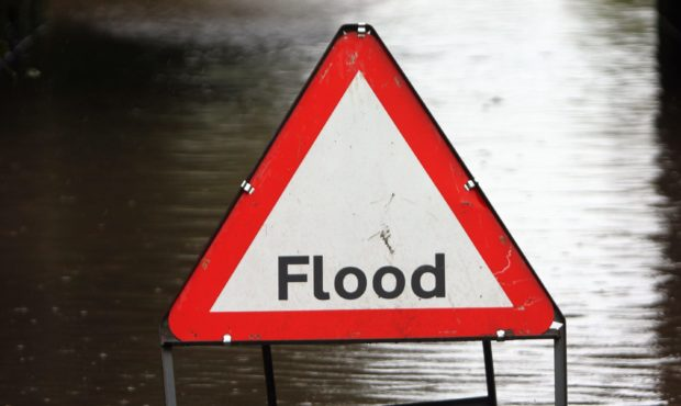 The flood warning is in place for most of north east Scotland.