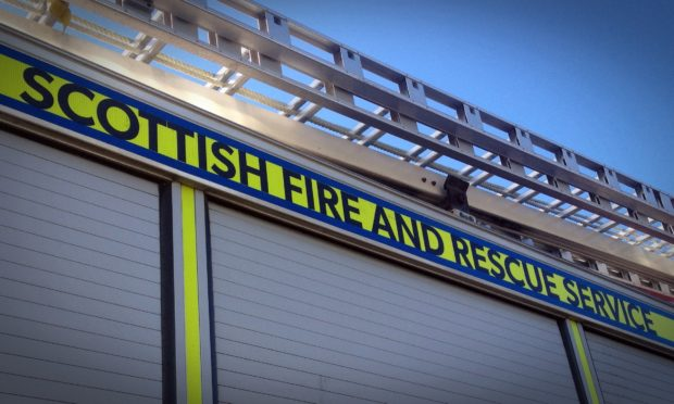 Firefighters are tackling a blaze in Forfar.