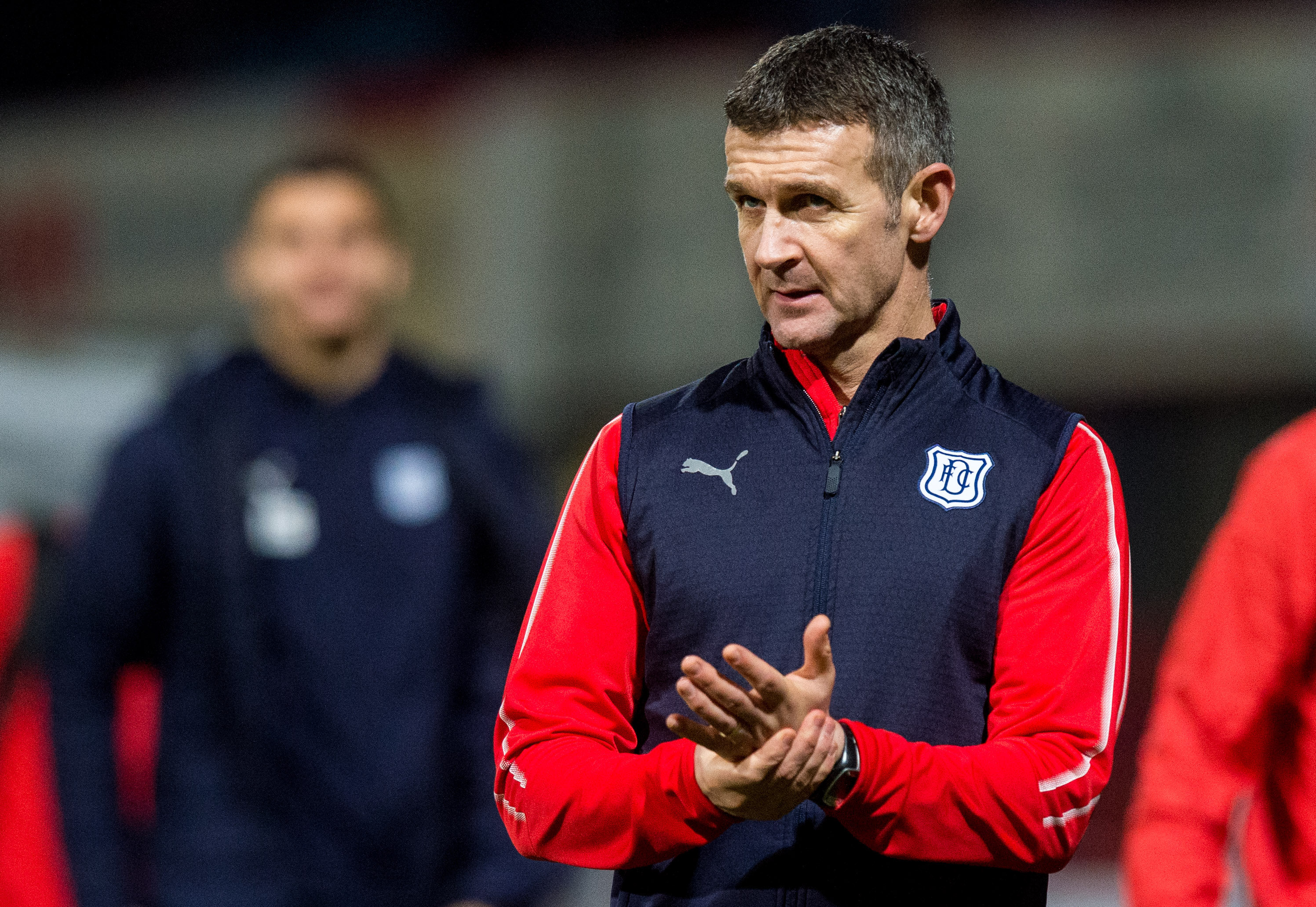 Dundee manager Jim McIntyre at full-time against Livingston.