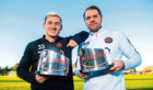 Dundee United's Fraser Aird and boss Robbie Neilson won the November Player and Manager of the Month prizes for the Championship.