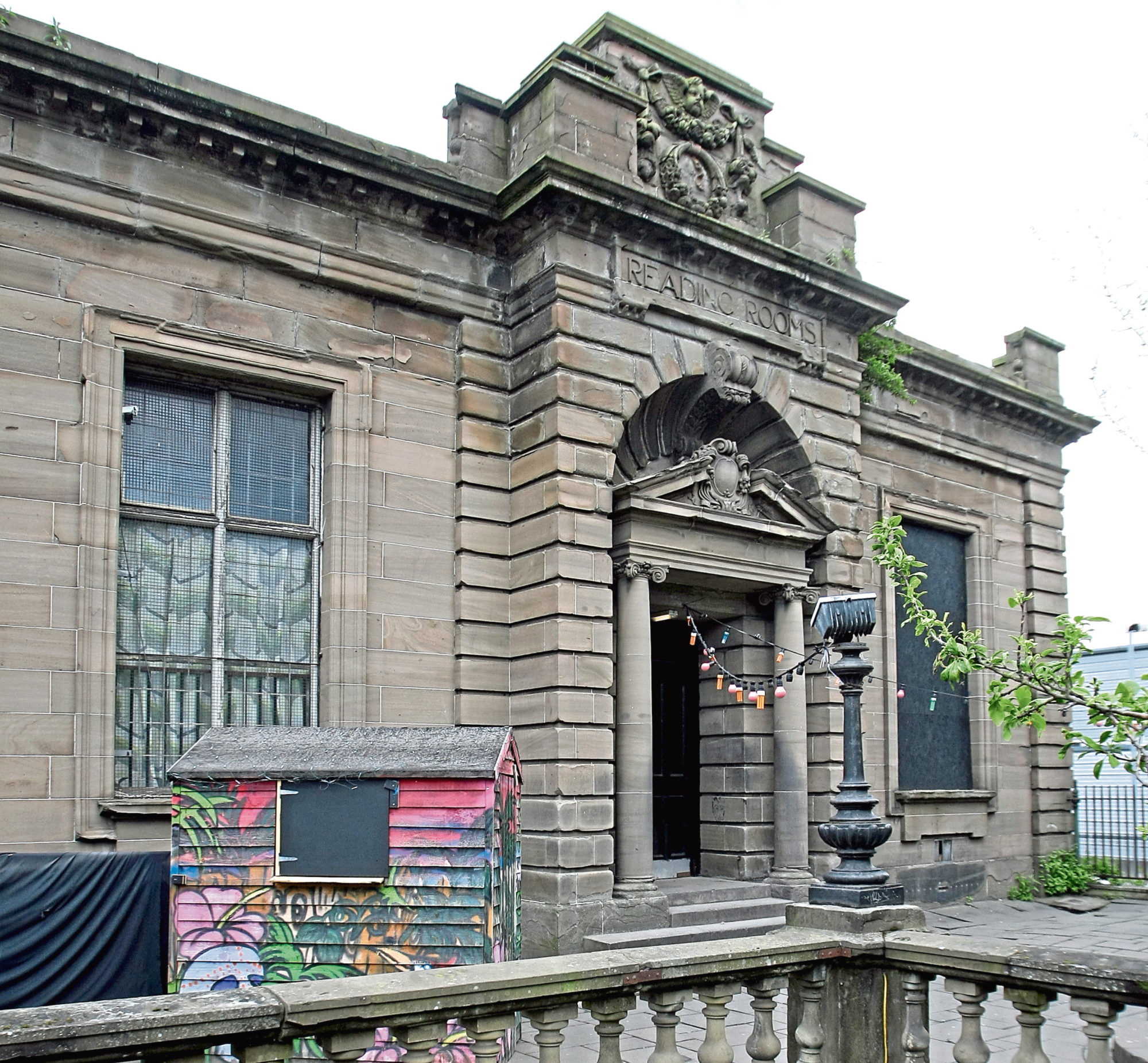 Building exterior of the Reading Rooms at Blackscroft, Dundee