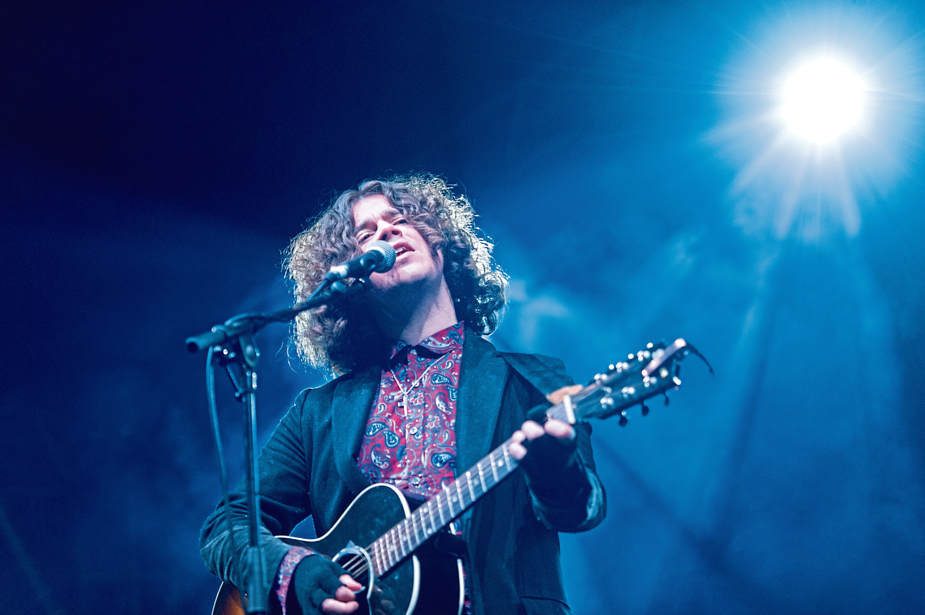 Kyle Falconer performs at Sleep in the Park, Dundee.