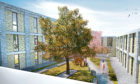 An artist's impression of the courtyard gardens at the proposed care home