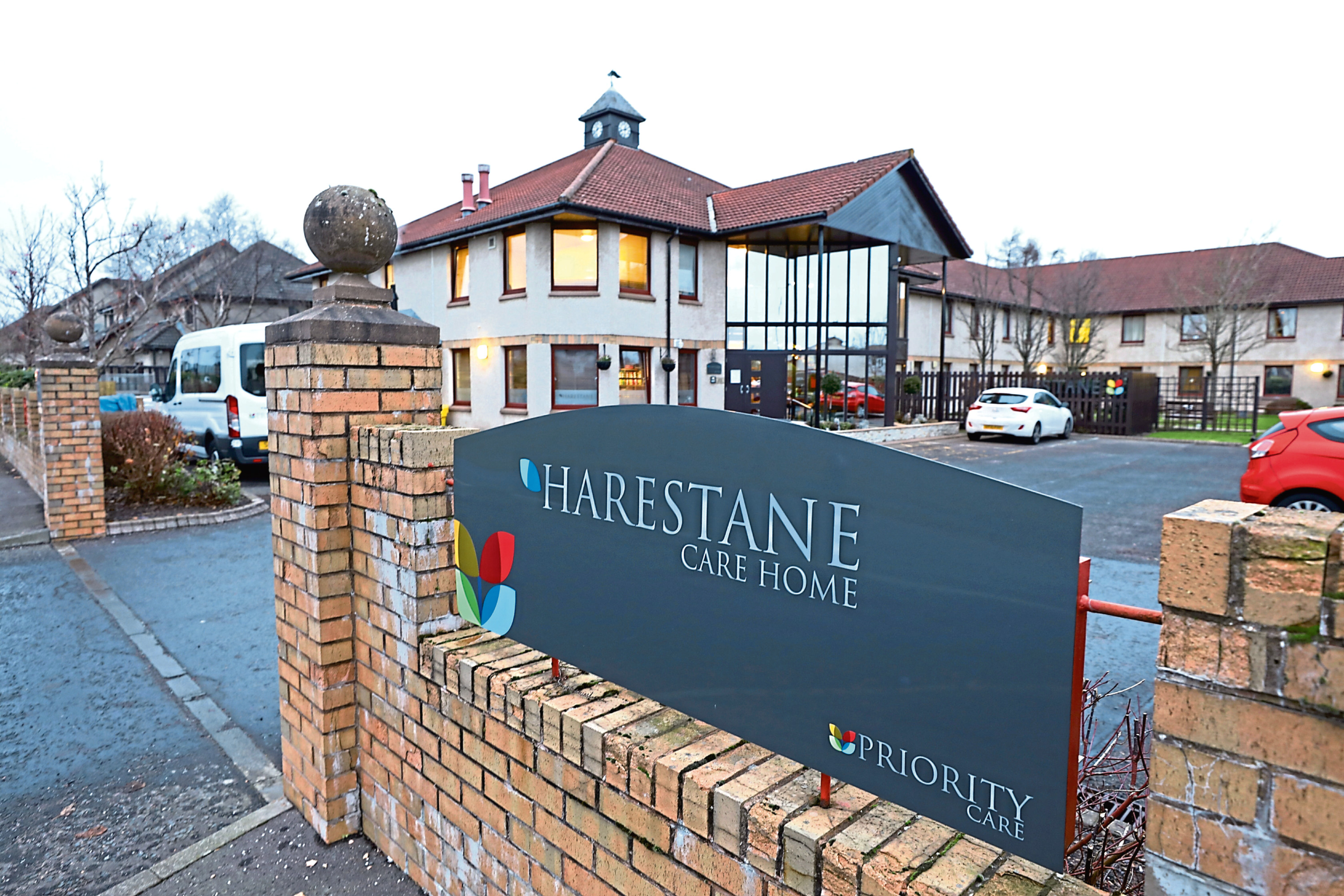 The incidents took place at Harestane Care Home