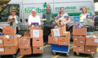 Helping with the food were Amanda Heffren, Carrie McIntyre, Michael from Dundee Foodbank, Carol Smith and Cherie Pattie.
