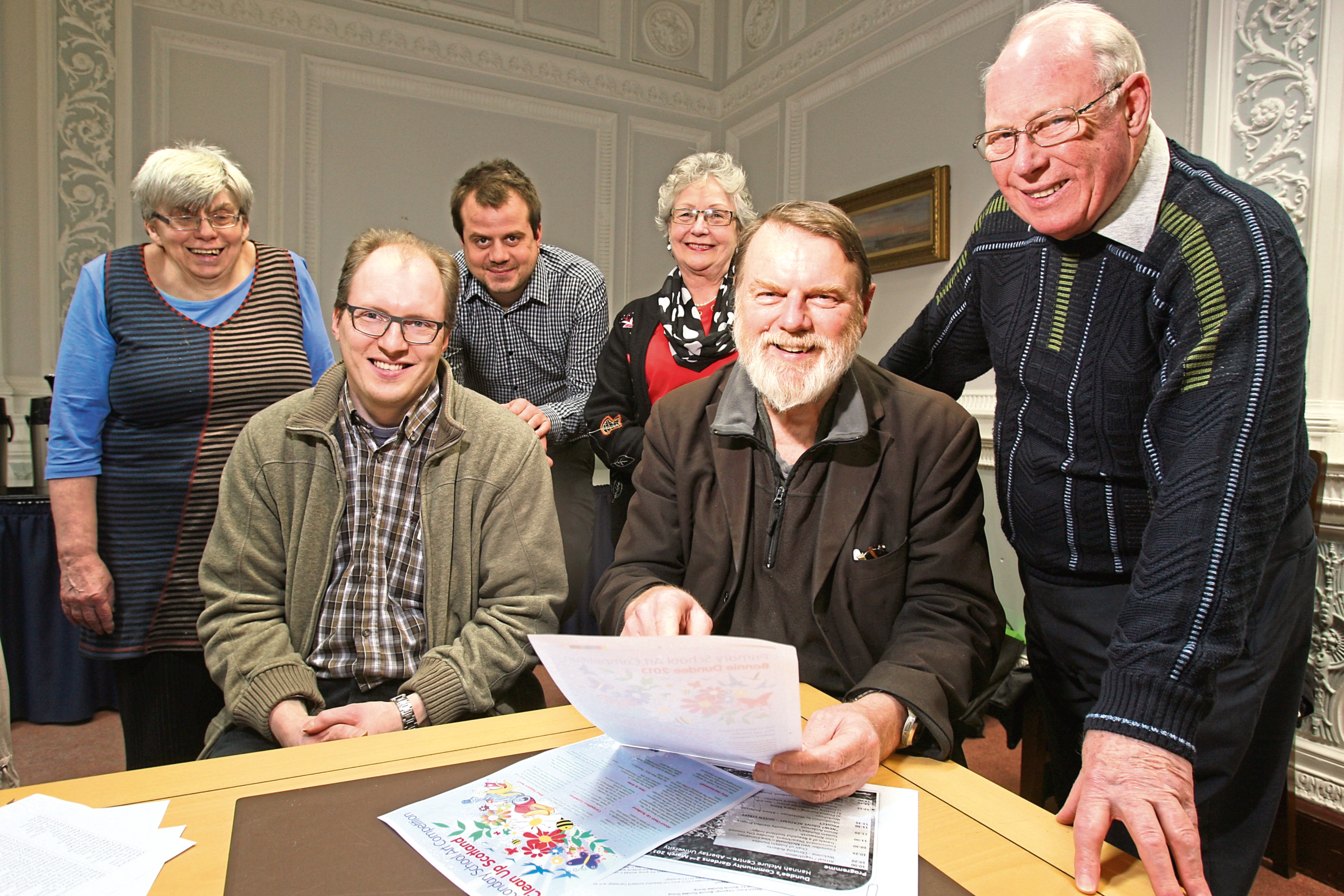 Alan Young, far right, at the AGM of Bonnie Dundee
