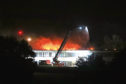 Braeview Academy on fire