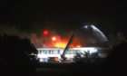The fire at Braeview Academy in 2018. Photo by Mhairi Edwards DCT Media.
