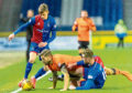 Frederic Frans in the thick of the action against Inverness Caley Thistle