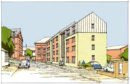 An artist's impression of the housing planned for Baxter's