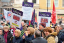 Strike action and protests have taken place against the plans