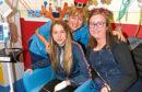 Abigail and Cara with specialist nurse Karen McIntyre.