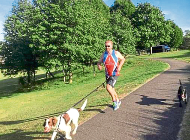 Richard Ibbotson is running a mile a day for charity.