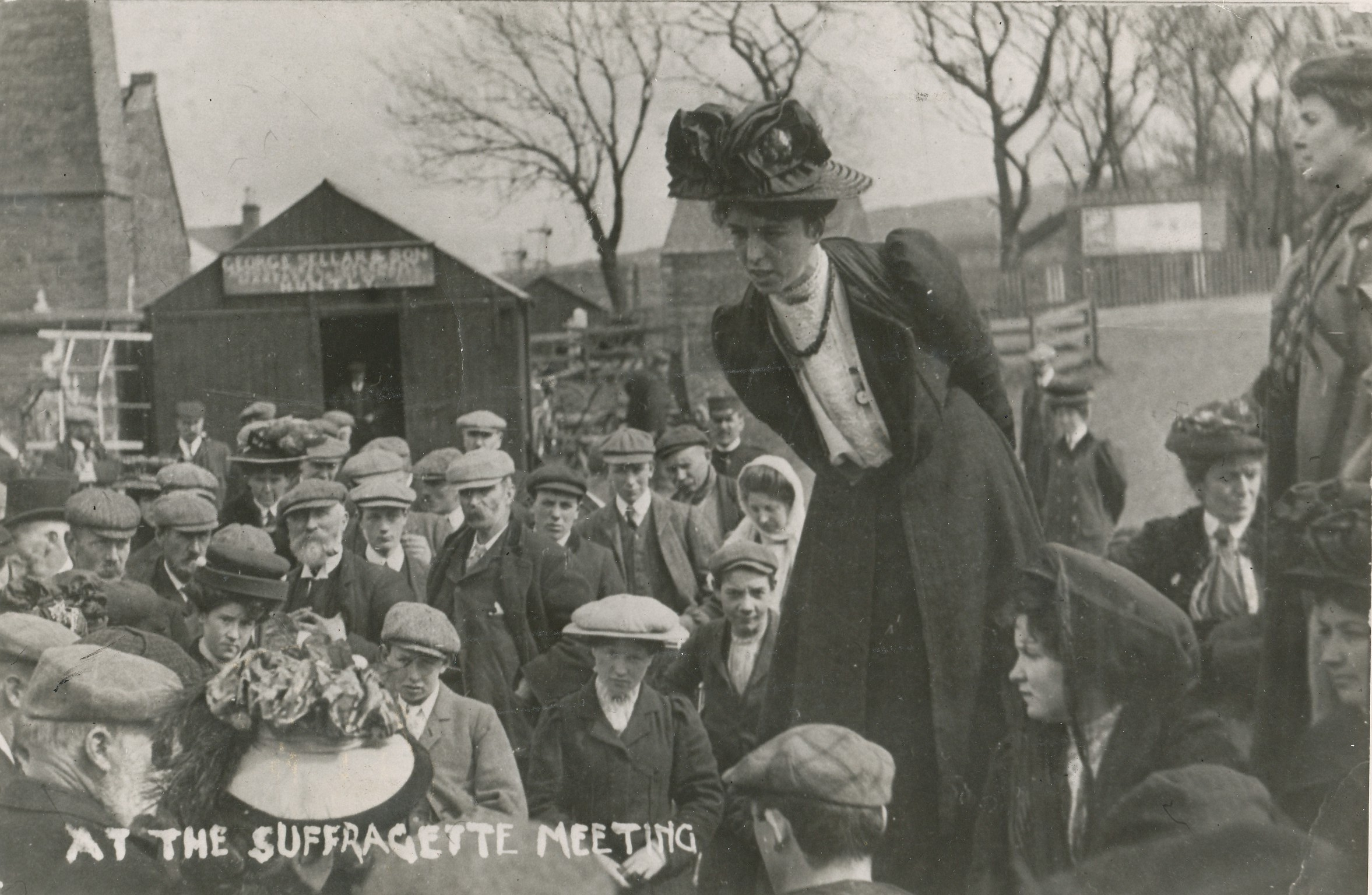 Dundee suffragettes speak out in the campaign for the vote.