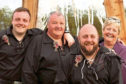 Grateful family the Telfers – Eileen, dad Gordon, and brother Sean with beard and Iain