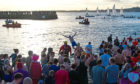 Brave swimmers taking the plunge at last year's dook.
