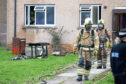 Emergency services at the scene in Ballindean Road, near the junction with Balerno Street, Douglas