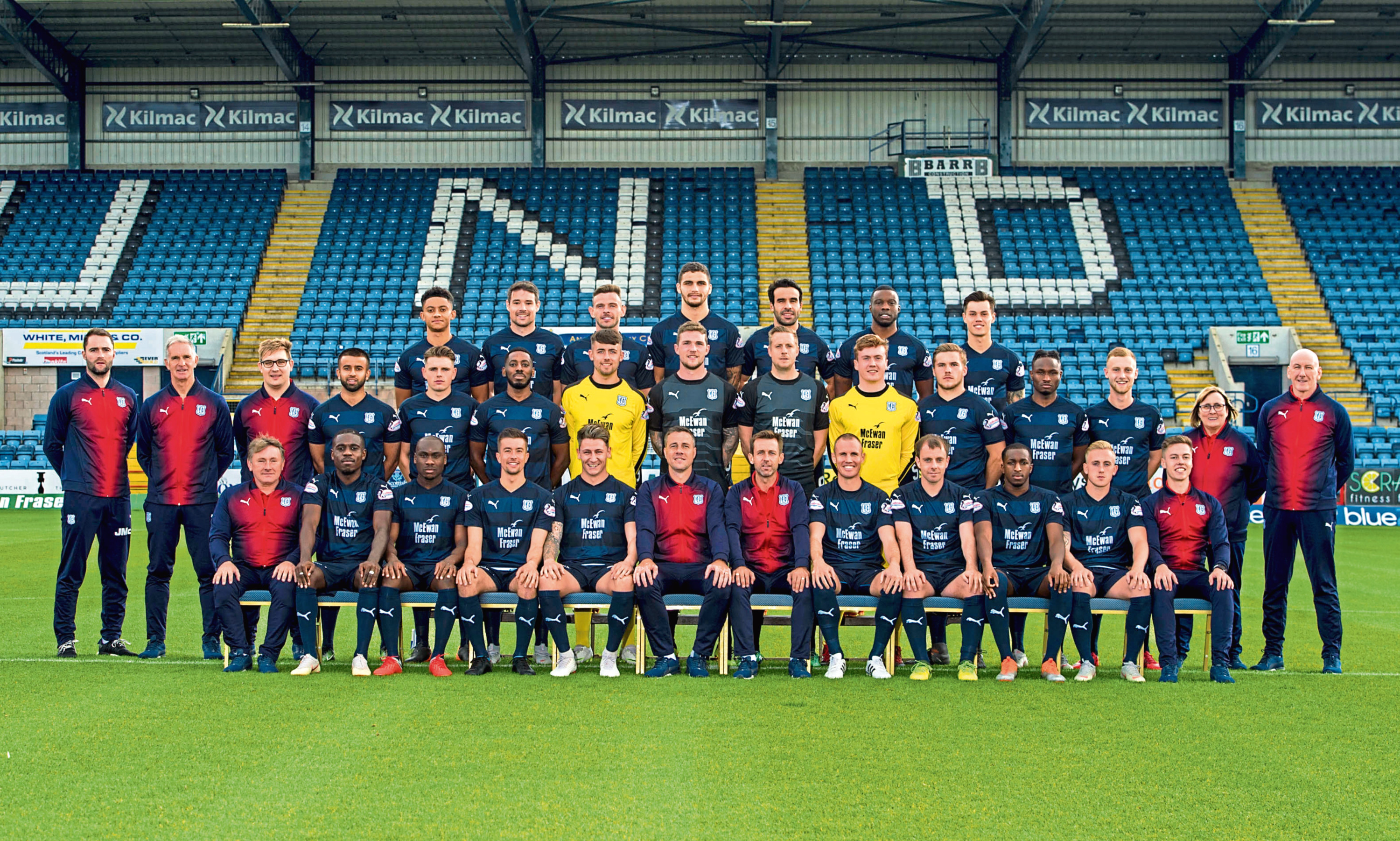 Of the 25 players pictured in Dundee's start-of-season team photo, only a handful are expected to still be playing for the club come the summer, whichever division they are in