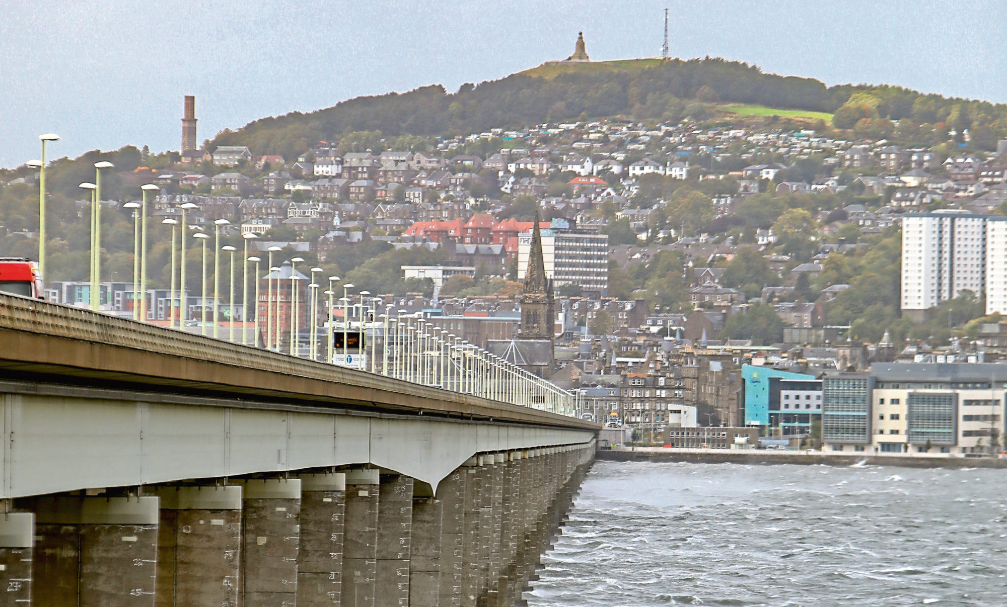 The incident happened on the Tay Road Bridge.