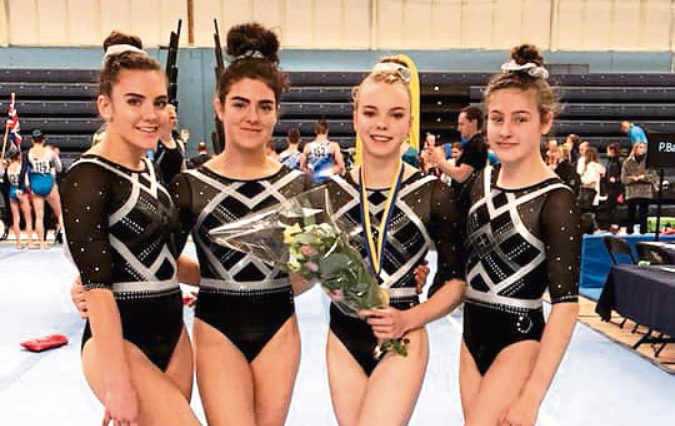 Hayley Bell, 17, Rosa Holm-Huxley, 16, Emily Bremner, 16, and Olivia Young, 15, represented Dundee Gymnastics Club 2K at the Malar Cup In Sweden in November