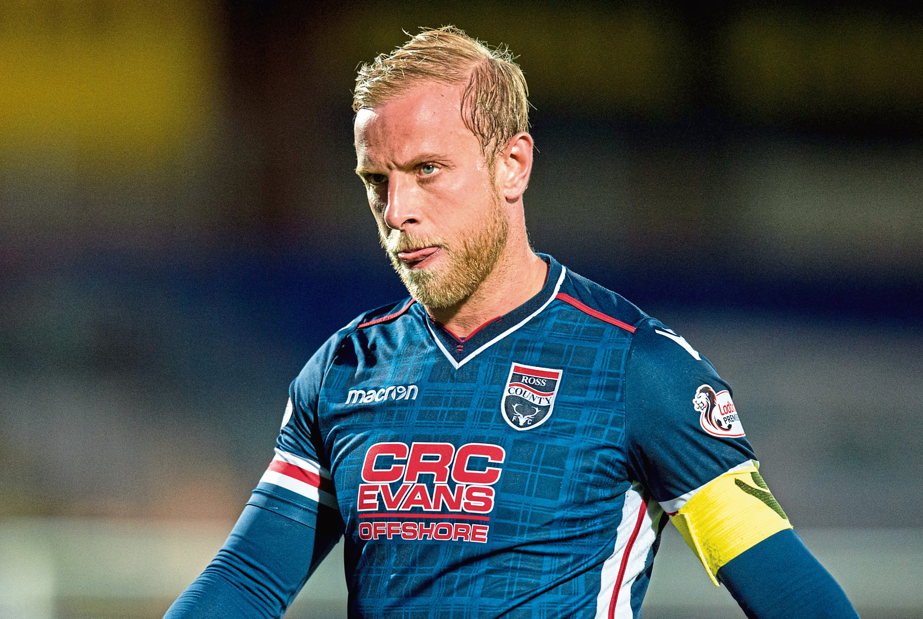 Andrew Davies in action for Ross County